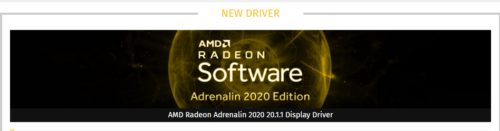 AMD Radeon Adrenalin 2020 20.1.1